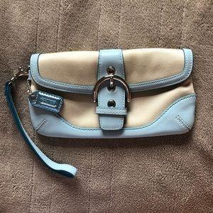 Vintage coach wallet light blue